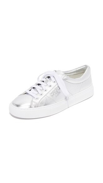 sneakers lace silver shoes