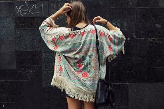 cardigan fringed kimono kimono floral floral kimono pastel fringe kimono fringes www.ebonylace.net ebonylacefashion