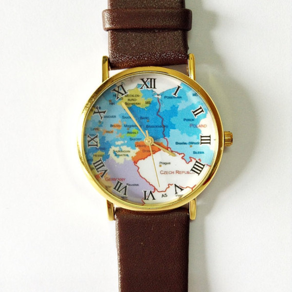 jewels map watch leather watch watch fashion jewelry accessories freeforme vintage style
