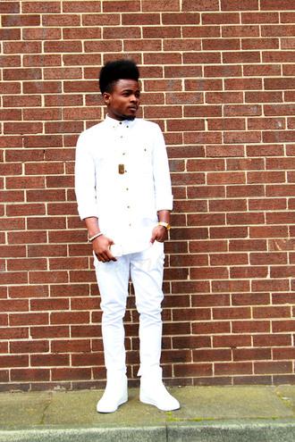 shirt all white white shirt
