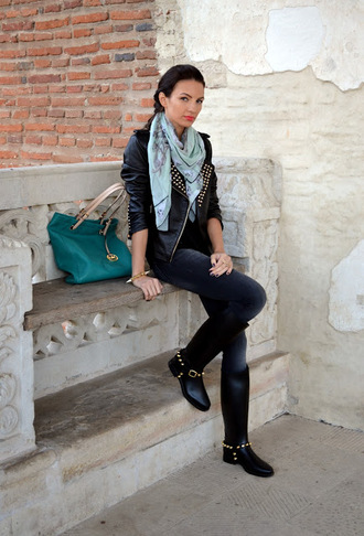my silk fairytale jacket t-shirt jeans bag shoes scarf jewels