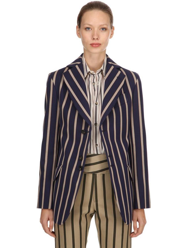 VIVIENNE WESTWOOD Striped Blazer in blue