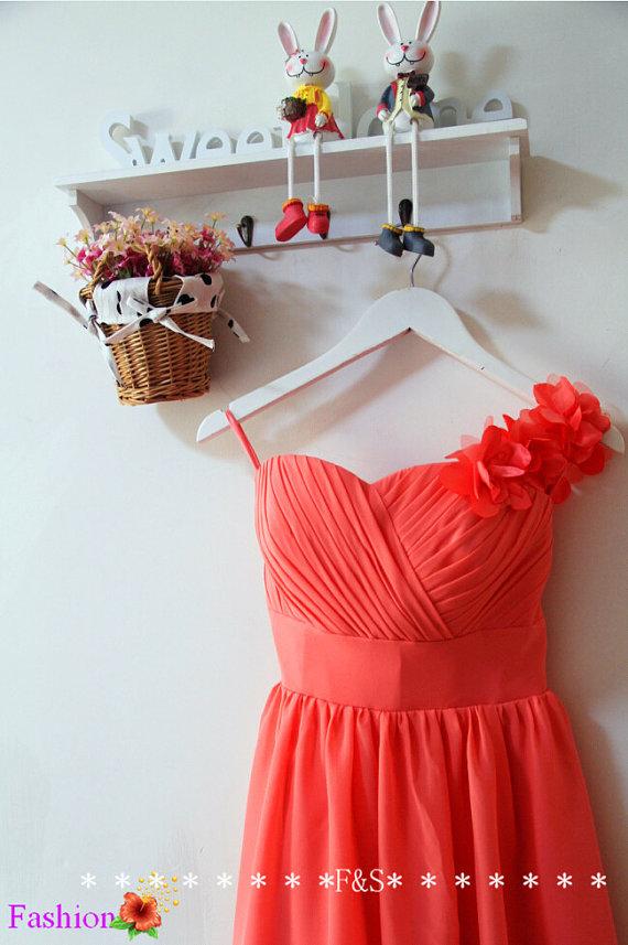 Line chiffon bridesmaid dress,country bridesmaid dress,short bridesmaid dress