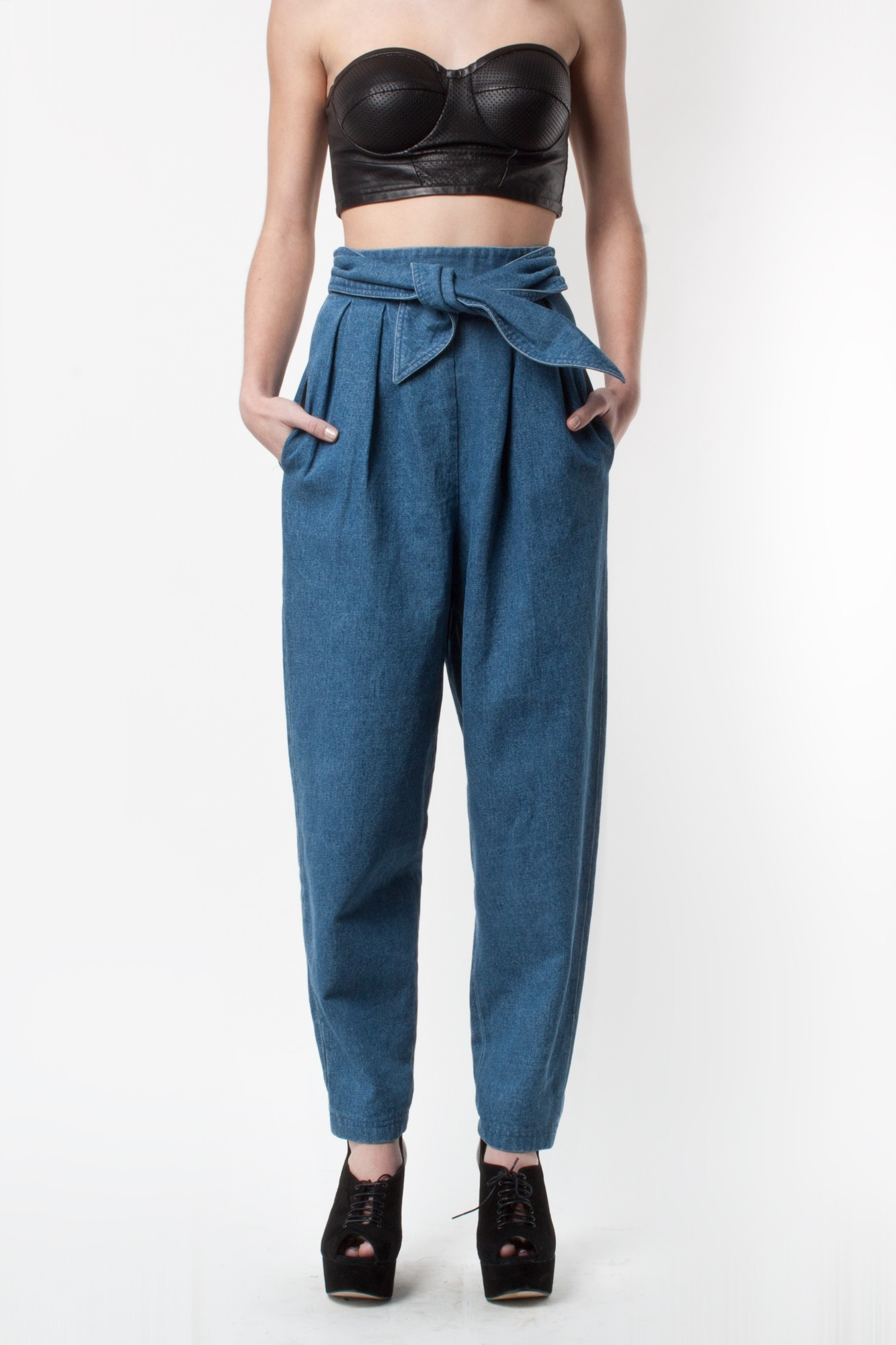 R/h knot trousers in denim