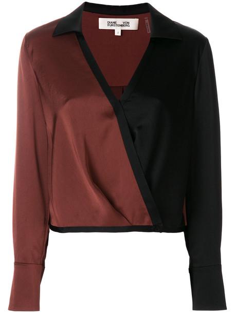 Dvf Diane Von Furstenberg blouse women black top