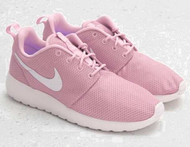shoes nike roshe run pink