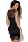 Black lace fitted peplum dress