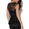 Black cocktail dress - black lace fitted peplum dress | ustrendy