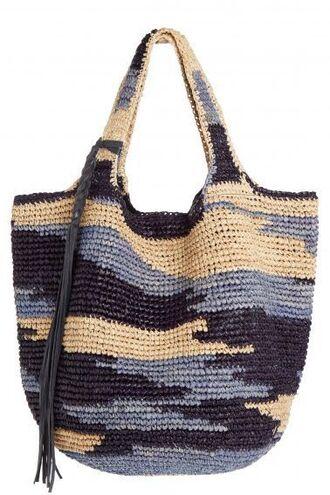 bag raffia bag raffia tote bag beach bag tassel colorful