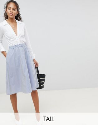 Y.A.S Tall Striped Skirt at asos.com
