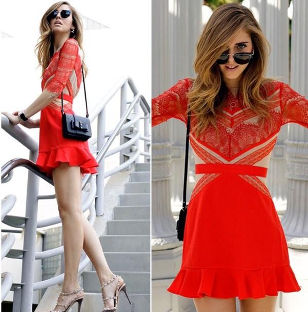 dress eyelash lace party dress fashion red dress eyelashes