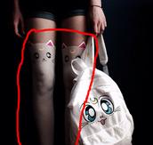 tights,sailor moon,artemis,white,kawaii,cute,pretty,bag