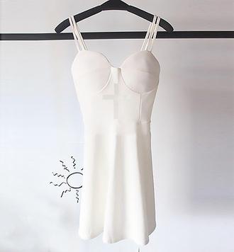 dress white pretty streetstyle stylemoi fabulous skater dress summer dress