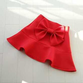 skirt red bow girly cute fashion style gyaru kawaii summer japanese fashion short skirt