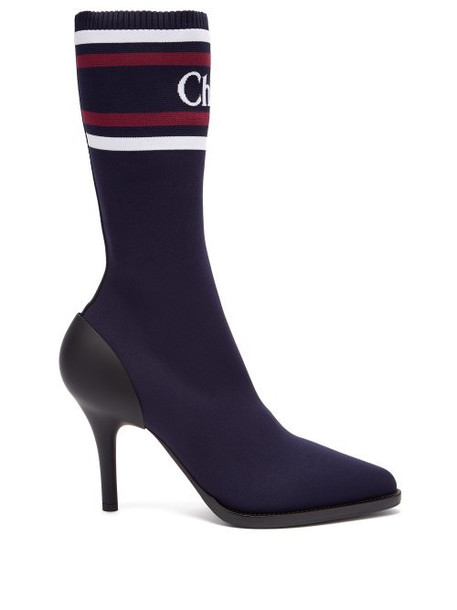 sock boots navy shoes