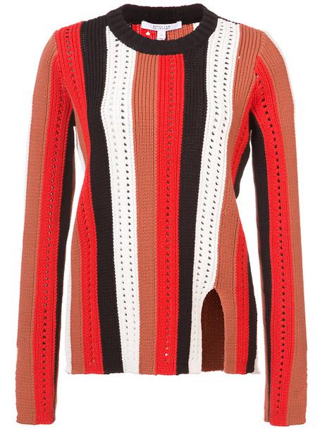 sweater crewneck sweater women cotton red