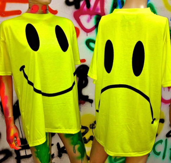 smiley face t-shirt yellow