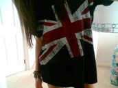 shirt,t-shirt,flag,britian,comfy,jewels,union jack,british style shirt,england,blue,white,red