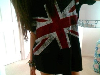 shirt t-shirt flag britian comfy jewels union jack british style shirt england blue white red