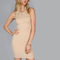 Pink racer neck bodycon dress -shein(sheinside)
