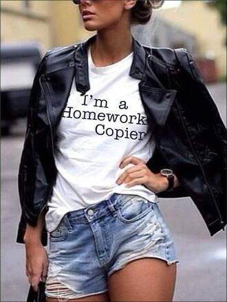 t-shirt trending trendy quote on it white t-shirt homework one direction