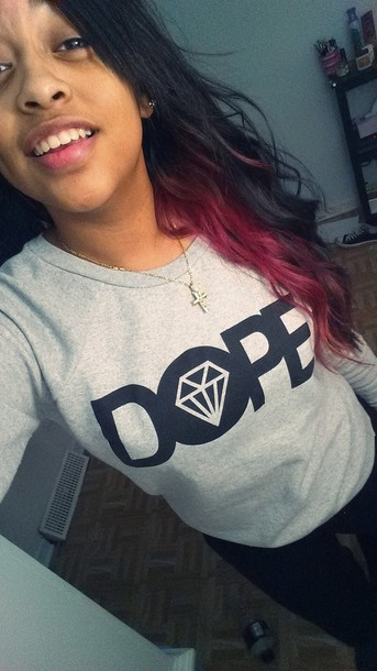 sweater grey sweater dope dope shit diamonds diamond supply co. swag swag ayee jewels
