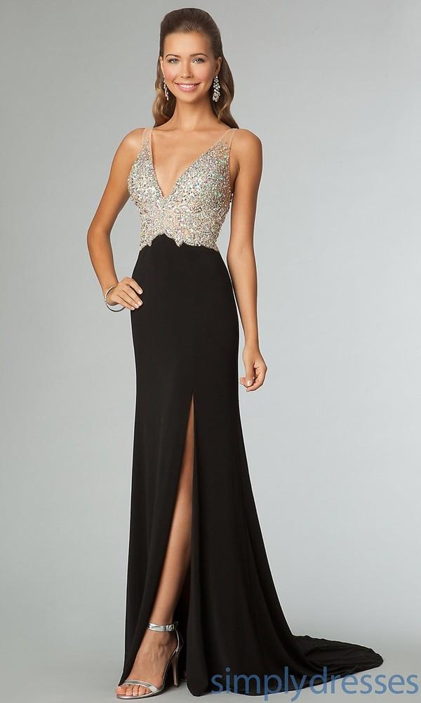 dress dress black sparkly long prom dress prom dress black black prom dress fashion prom dress ball gown dress evening dress jvn jeweled long proms dress