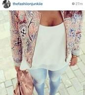 jacket,chanel style jacket,colorful,wanted,like
