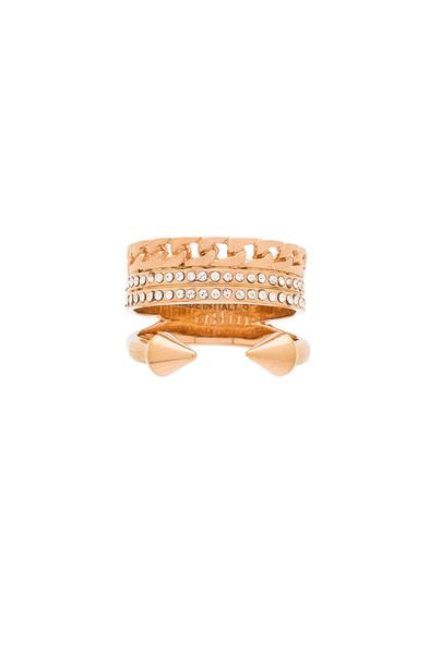 Vita Fede Catena Titan Ring in metallic / copper