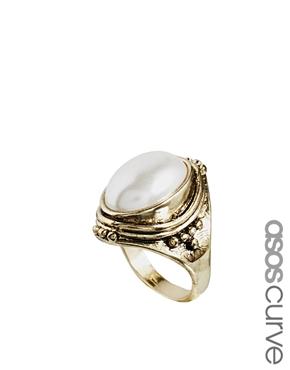 ASOS Curve | ASOS CURVE Faux Pearl Cocktail Ring at ASOS