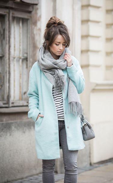 coat fall coat blue