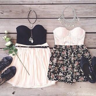 skirt friends twinning floral skater skirt