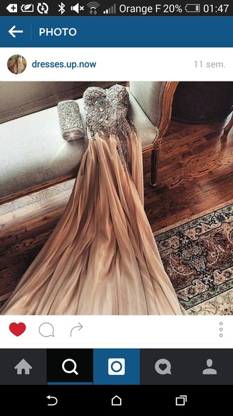 dress prom dress wedding dress beige grey gris sequins long dress long prom dress nosleeves orange rainbow cute elegant dress beautiful dresses