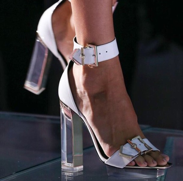 shoes white shoes white heels sandals white sandals high heels heels