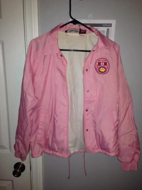 aa26673b9b7 jacket tyler wolf gang golf wang pink windbreaker pink windbreaker odd  future tyler the creator