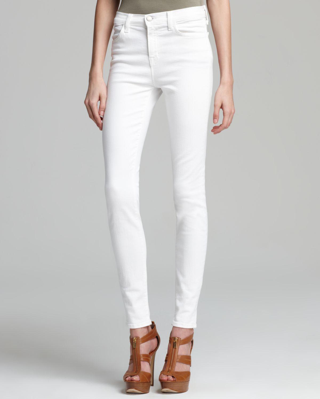 J Brand Jeans - High Rise Maria Skinny in Blanc | Bloomingdale's
