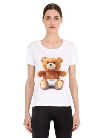 t-shirt shirt bear cotton white top