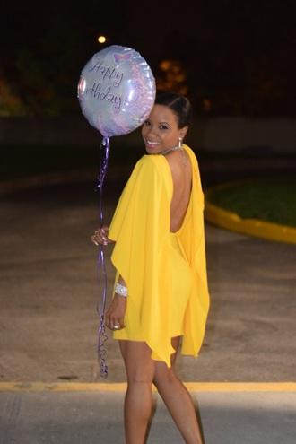 dress yellow backless yellow dress gold dress