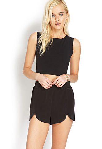 Simply Stated Scalloped Shorts   FOREVER 21 - 2000073237
