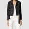 Womens tassel leather biker jacket (washed black) | allsaints.com