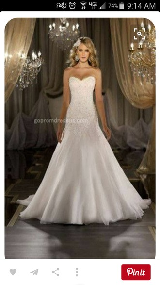 dress wedding dress strapless dress elegant