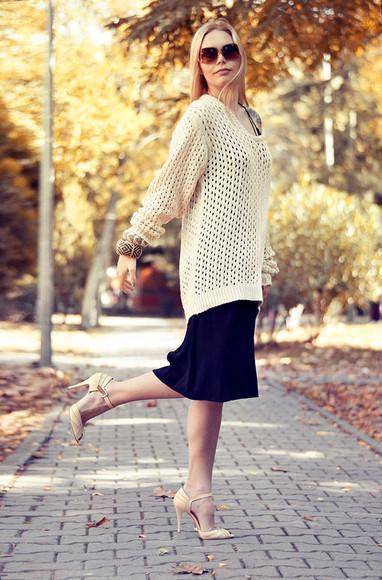 midi skirt blogger fall outfits ag on i ya knitwear bracelets