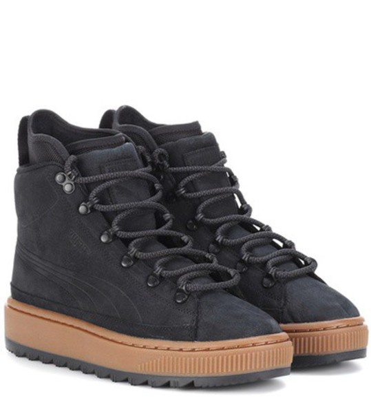 puma leather ankle boots ankle boots leather black shoes