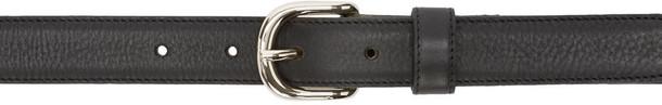 belt leather black black leather