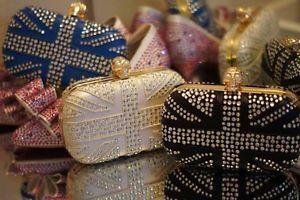 Skull Union Jack Crystal Clutch Evening Wedding Studded Bags Shinny Brand Purse   eBay