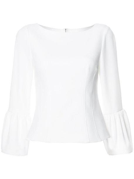 Tibi blouse women spandex white top