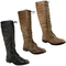 Womens tall lace up knee high military boots ladies new 3-8 | ebay