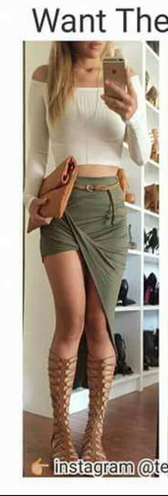 shirt shoes skirt belt bag