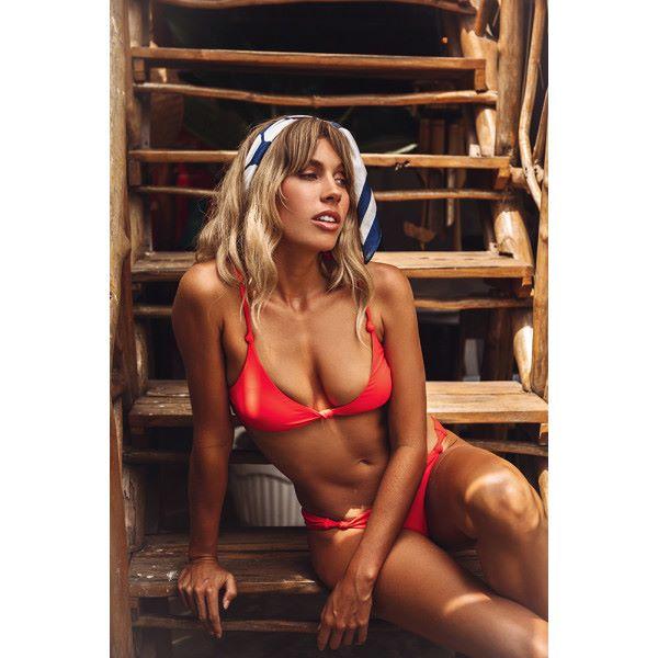 HELLO MOLLY Hermosa Swim Top Red