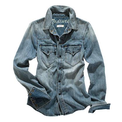 Western Jean Shirt in Desert Willow Wash - chambray & denim - Women's SHIRTS & TOPS - Madewell